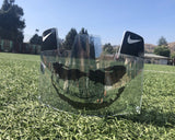 Clear Black Joker Custom Football Visor