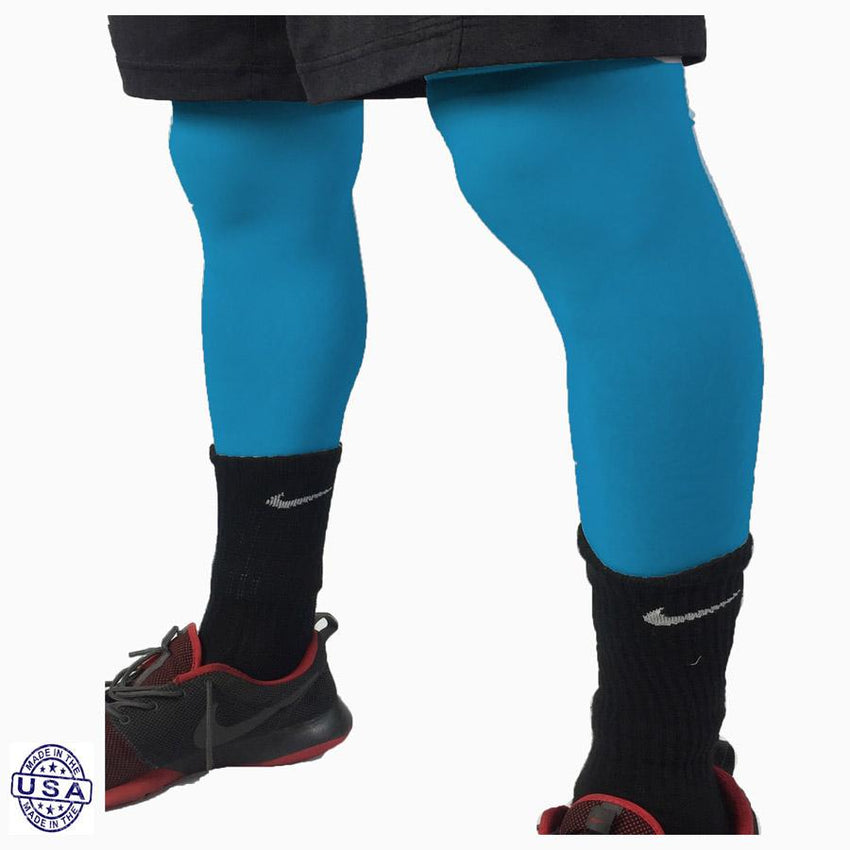 Pair of Teal Basketball Leg Sleeves