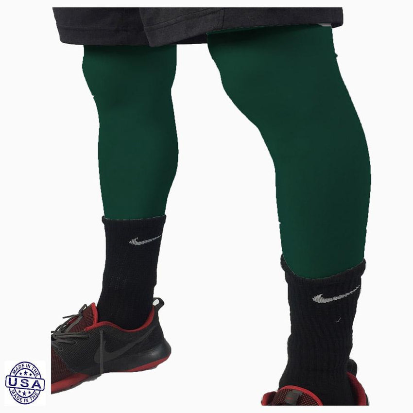 Pair of Forrest Green Basketball Leg Sleeves