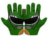 Back Hands Green Power Ranger Football Glove
