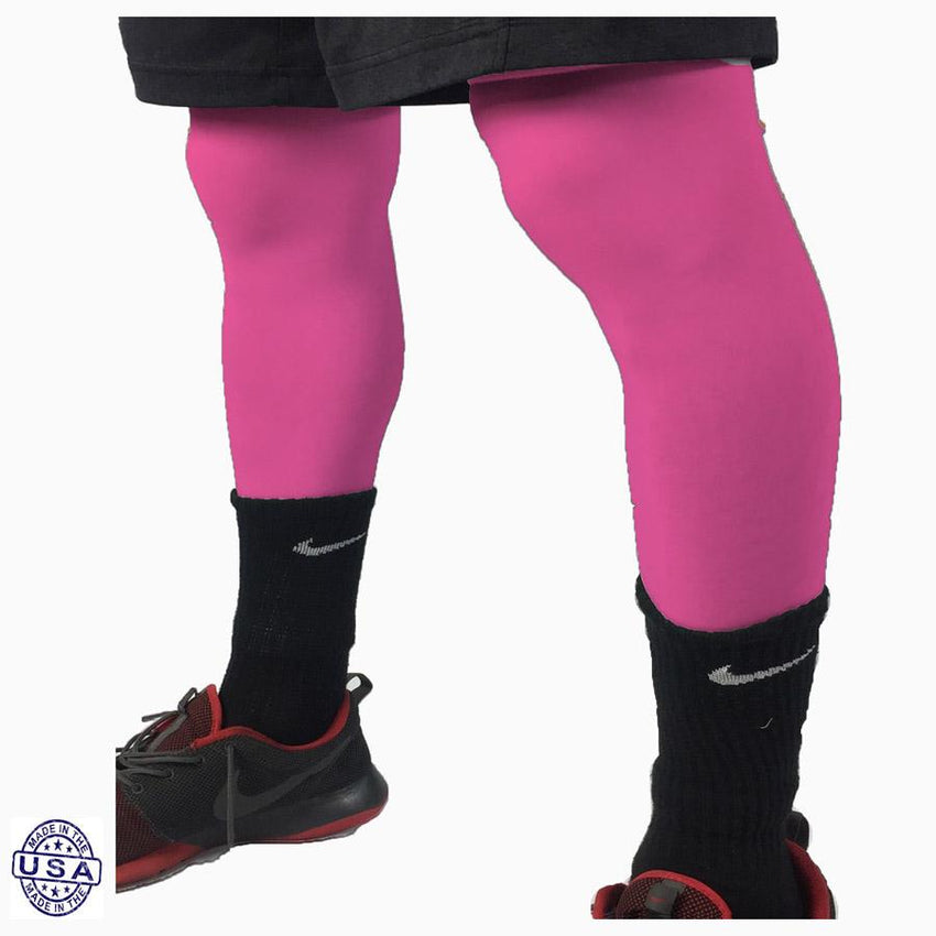 Pair of Hot Pink Basketball Leg Sleeves