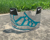J 11's Custom Football Visor