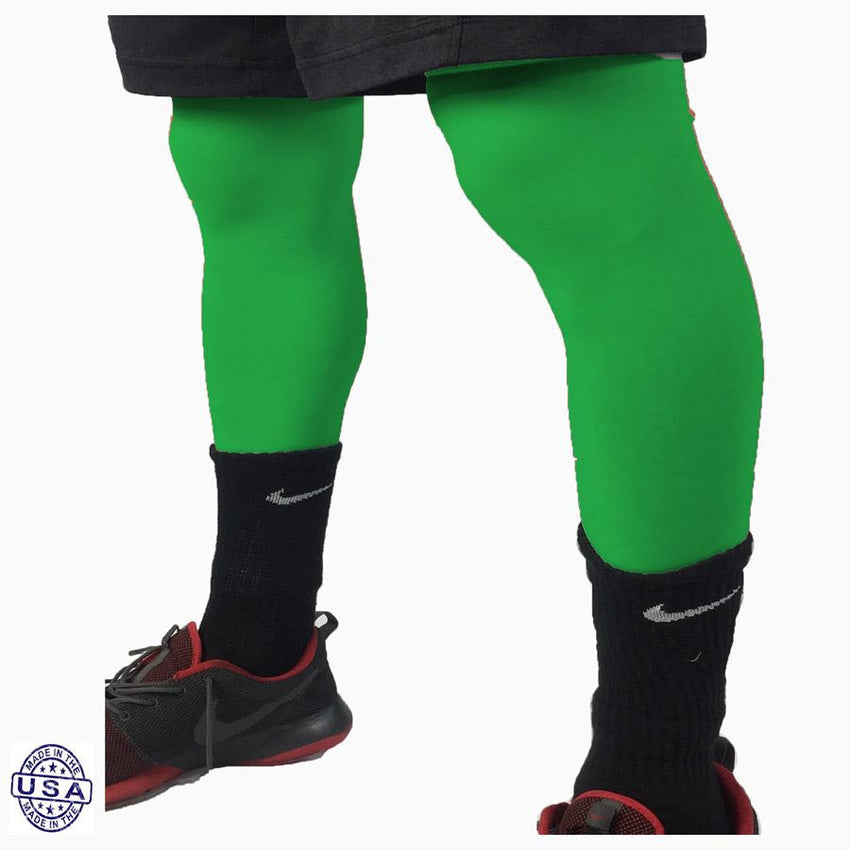 Pair of Kelly Green Basketball Leg Sleeves