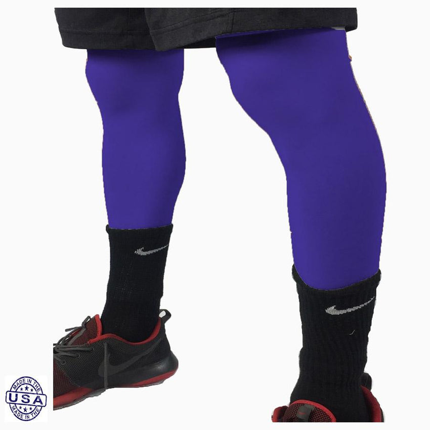 Pair of Lakers Purple Basketball Leg Sleeves