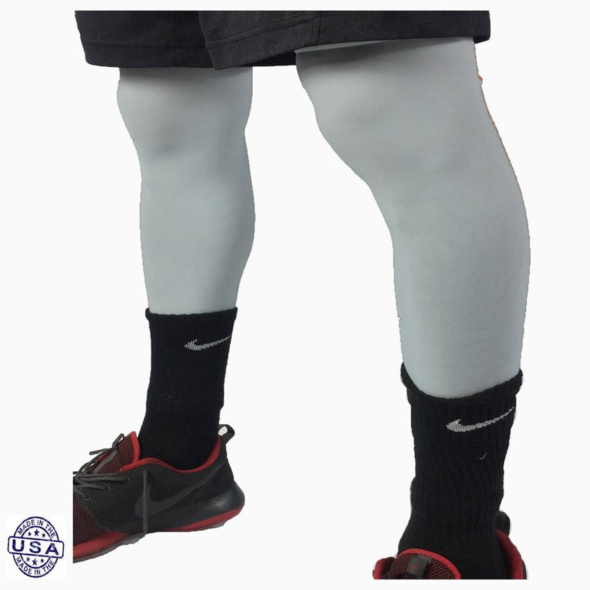 Pair of Light Grey Basketball Leg Sleeves