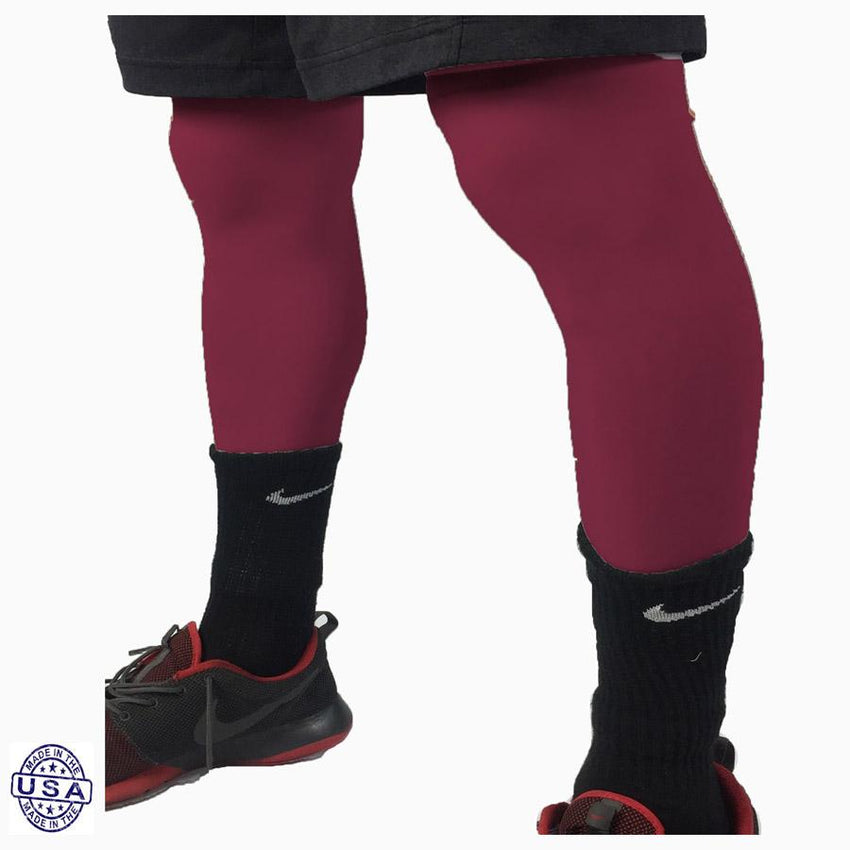 Pair of Maroon Basketball Leg Sleeves