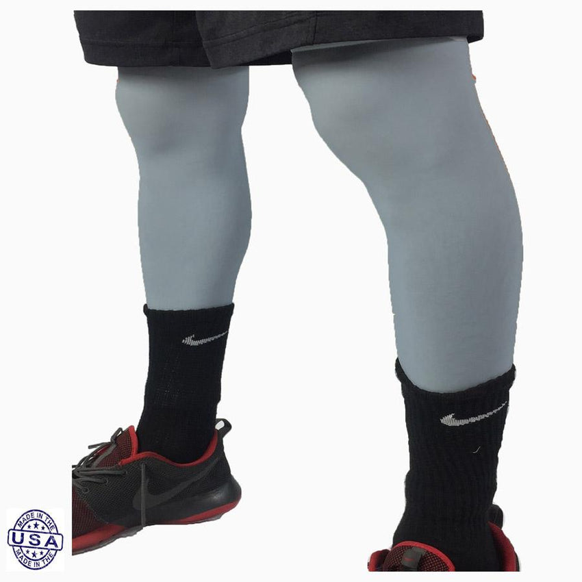 Pair of Medium Grey Basketball Leg Sleeves