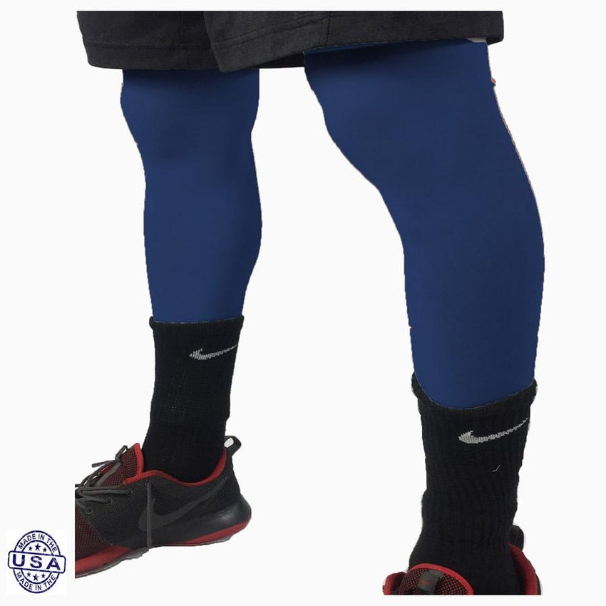 Pair of Navy Basketball Leg Sleeves
