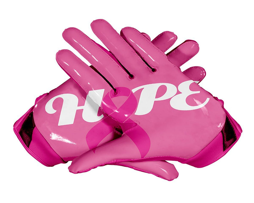 PINK Hope Football Gloves