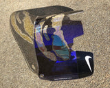 Purple Chrome Joker Custom Football Visor