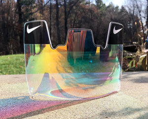 Rainbow Tint Custom Football Visor