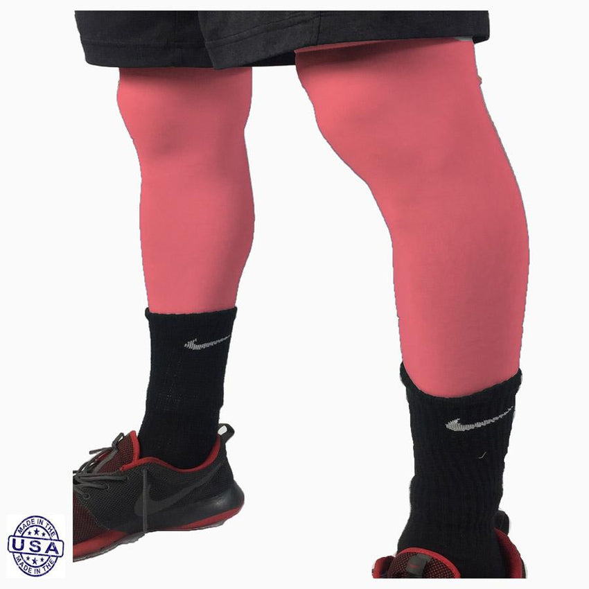 Pair of Salmon Basketball Leg Sleeves