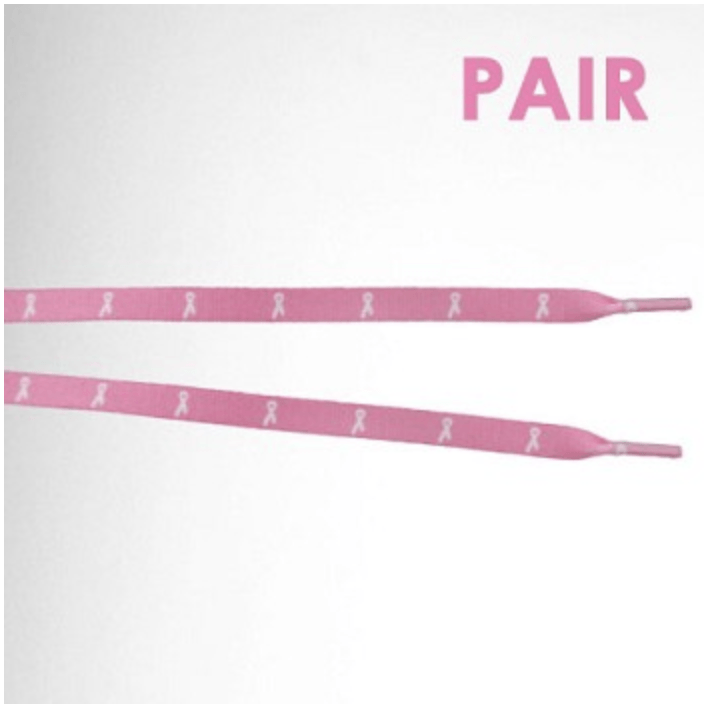 Pink Ribbon BCA Shoe Laces