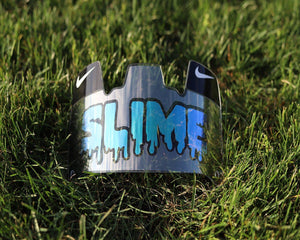 SLIME Chrome Blue Custom Football Visor