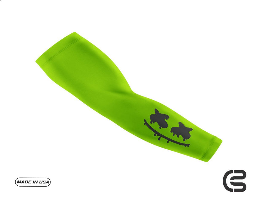 Hi Vis Green Smiley Drip Arm Sleeve