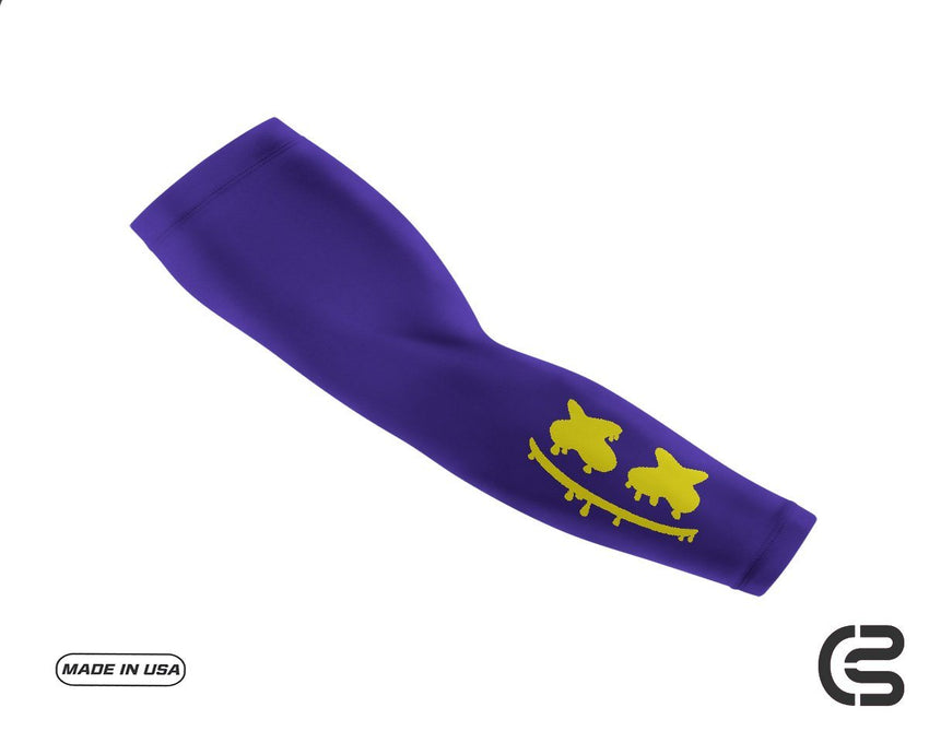Lakers Purple Smiley Drip Arm Sleeve