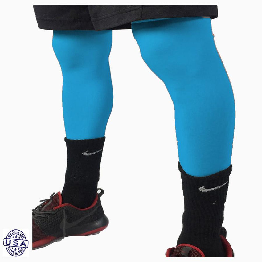 Pair of Turquoise Basketball Leg Sleeves