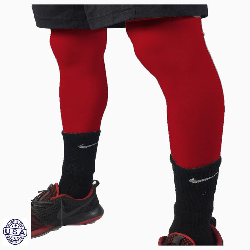 Pair of Varsity Red Basketball Leg Sleeves