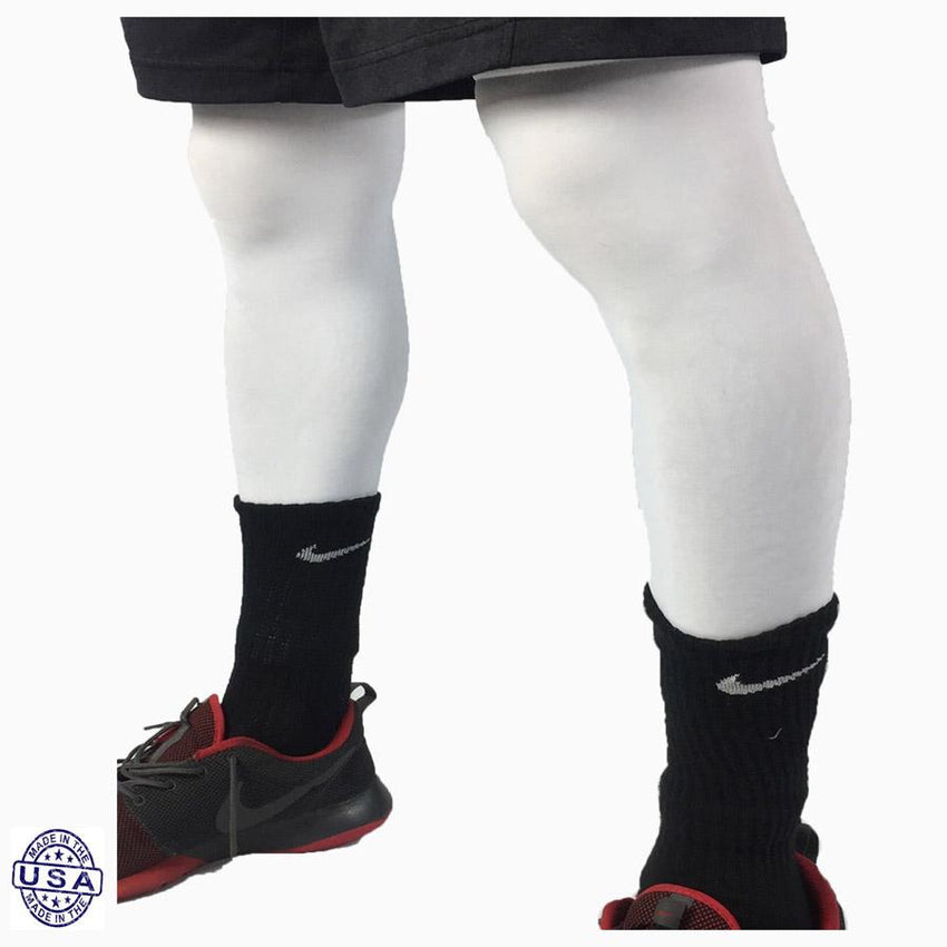 Pair of White Basketball Leg Sleeves