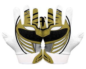 Thumbnail Back Hands White Power Ranger Football Glove