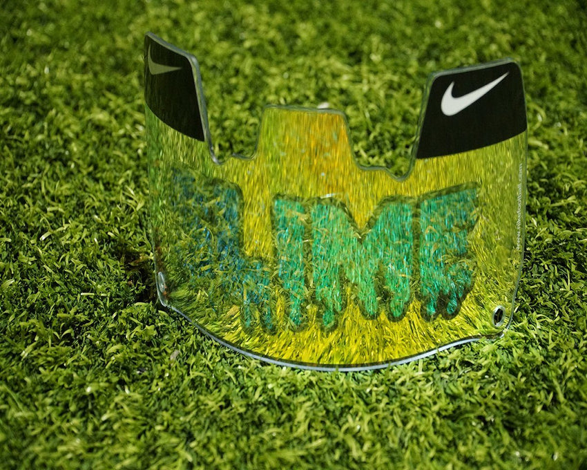 Yellow SLIME Custom Football Visor