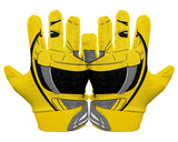 Back Hands Yellow Power Ranger Football Glove
