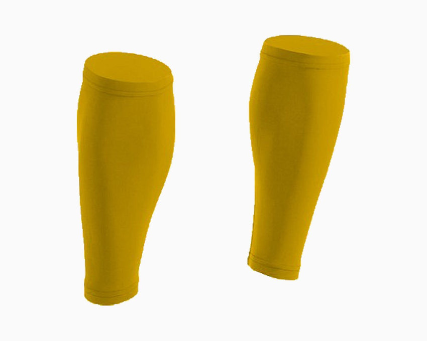 Athletic Yellow Calf Compression Sleeves