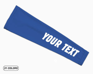 Blue Custom Your Text Arm Sleeve Thumbnail