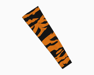 Stripe Orange Black Arm Sleeve