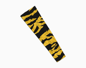 Stripe Yellow Black Arm Sleeve