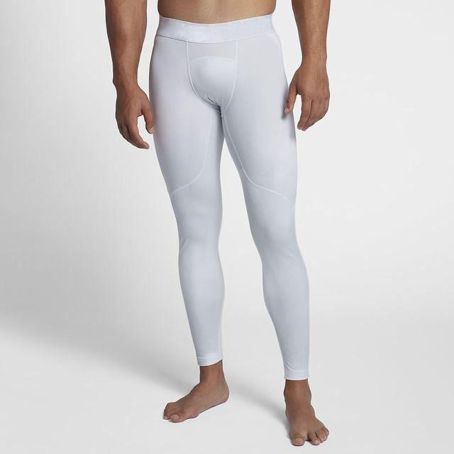 White Men's Compression Tights