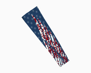 USA Stars and Stripes Winged Pattern Arm Sleeve