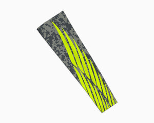 Grey Neon Winged Pattern Arm Sleeve