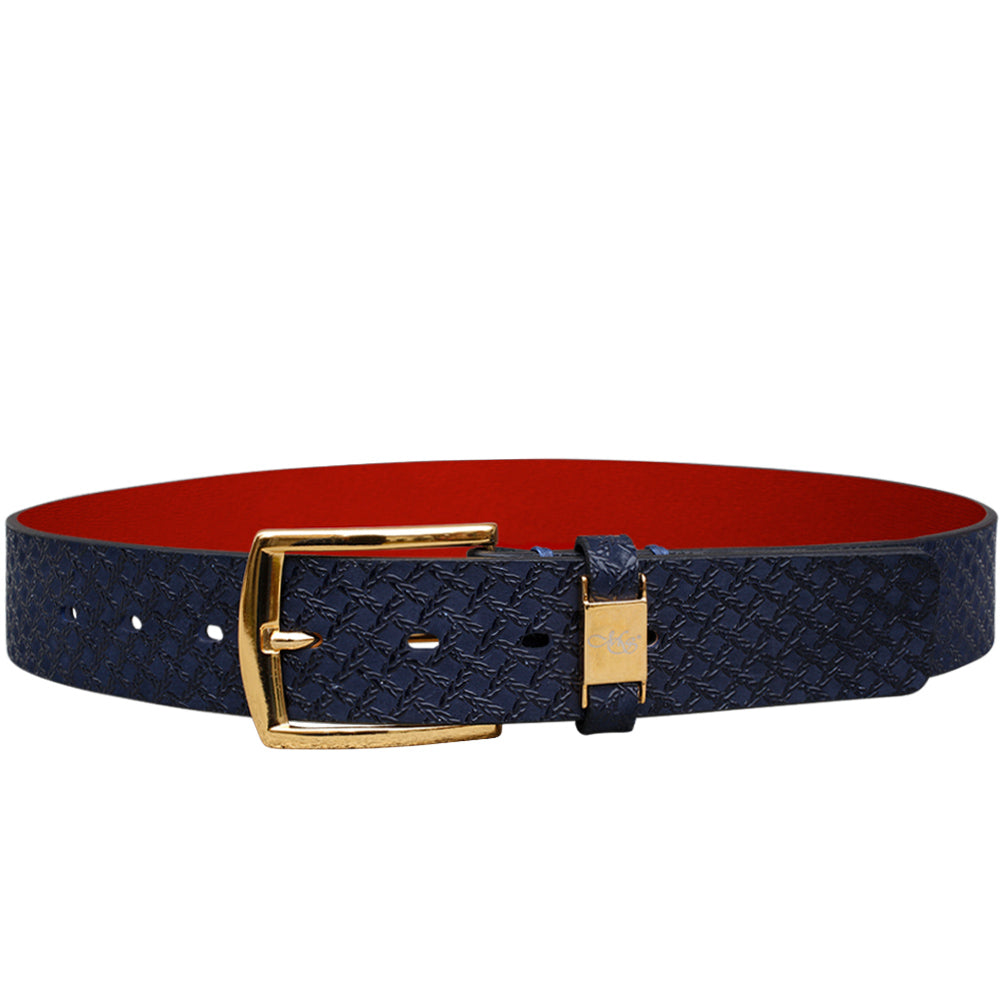 Cohen Blue Caged Print Belt