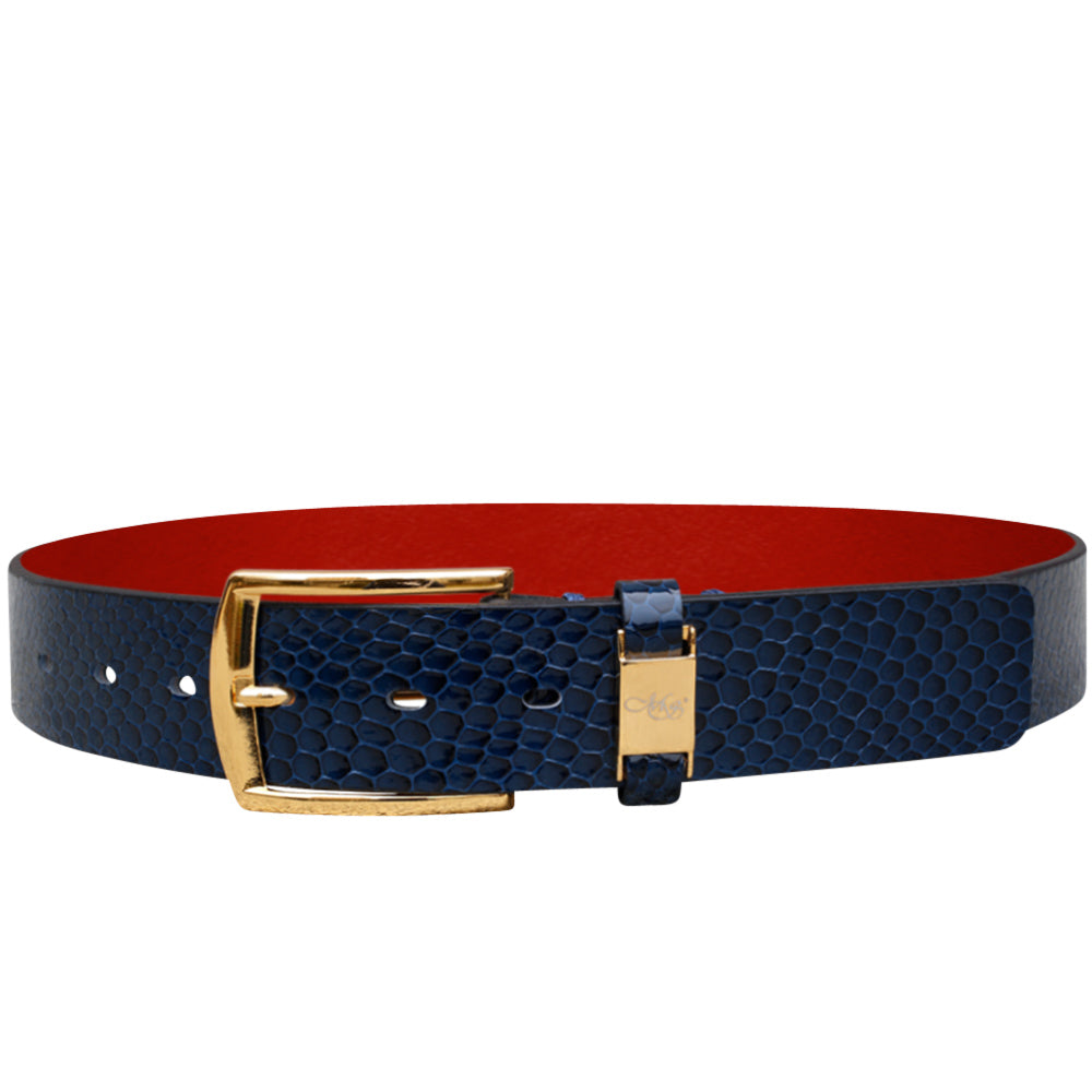 Cohen Blue Favo Belt