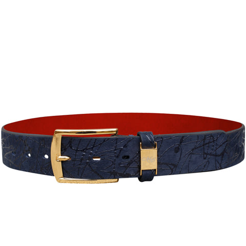 Cohen Blue Lambuzado Belt