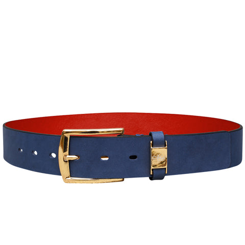 Cohen Navy Washed Belt
