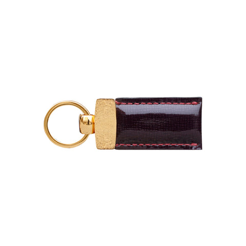 Gian Burgundy Patent Leather Key Fob