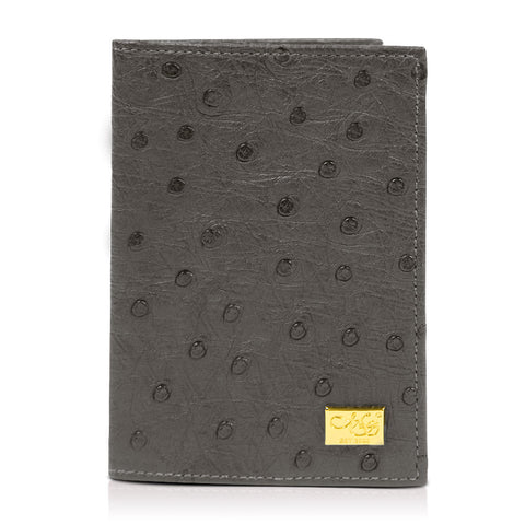 Mason Gray Ostrich Passport Cover