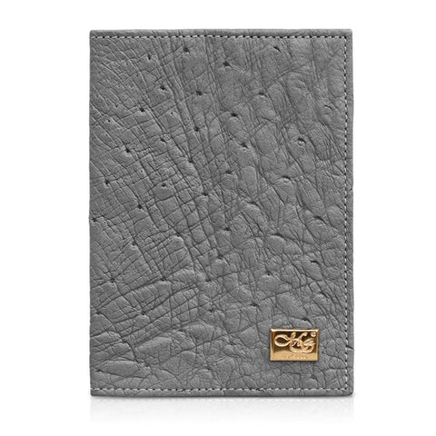 Mason Gray Ostrich Skin Passport Cover