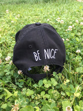 Be Nice Black Baseball Hat w/ Adjustable Strap from I Love Nice People!