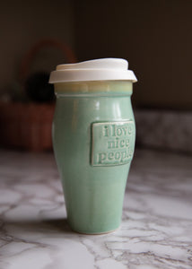 Handmade Ceramic Travel Mug