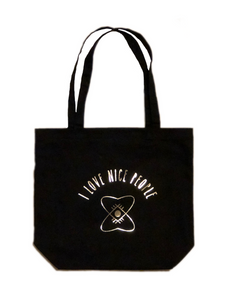 This is the best black tote bag! By I Love Nice People.