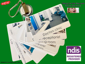 Going to the doctors picture routine. Autism communication supports NDIS provider