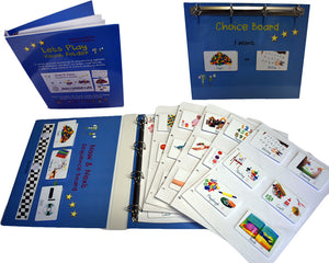 School pack, activity PECS Folder, Autism learning and language resource