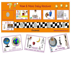 School visual pack, early leaning daily school picture schedule