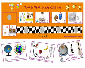 School Daily Picture routine, autism, disability school daily routine