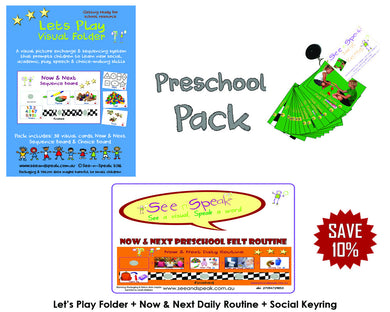 Preschool visual pack, children learning and language resources