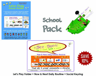 School language visual supports, Autism & disability behaviour, routine packs