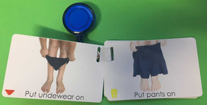 Getting Dressed Routine Communication Cards NDIS See-n-Speak